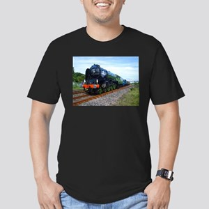 Flying Scotsman - Steam Train Men's Fitted T-S