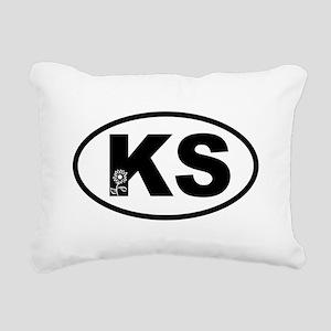 Kansas Sunflower Rectangular Canvas Pillow