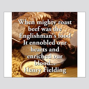 When Mighty Roast Beef - Henry Fielding Small Post