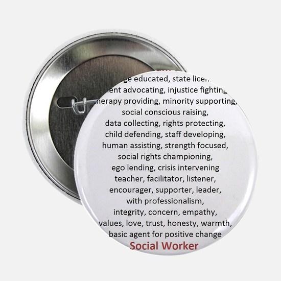 """I am a Social Worker 2.25"""" Button"""