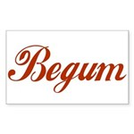 Begum name Sticker (Rectangle)