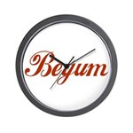 Begum name Wall Clock