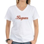 Begum name Women's V-Neck T-Shirt