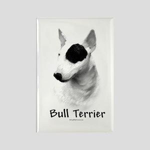 Bull Terrier charcoal Rectangle Magnet