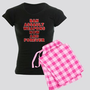 BAN ASSAULT WEAPONS FOREVER Women's Dark Pajamas