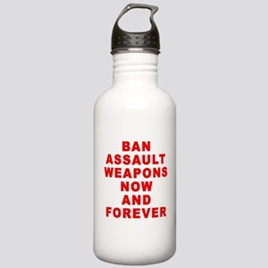 BAN ASSAULT WEAPONS FOREVER Stainless Water Bottle
