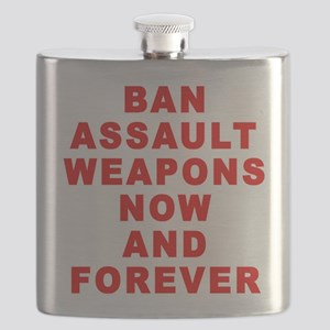 BAN ASSAULT WEAPONS FOREVER Flask