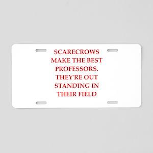 scarecrow Aluminum License Plate