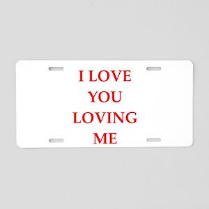 ego Aluminum License Plate