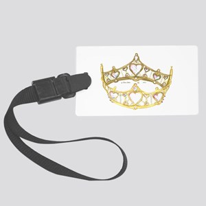 Queen of Hearts crown tiara Large Luggage Tag