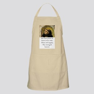 Our Foes Press On - Thomas Aquinas Light Apron
