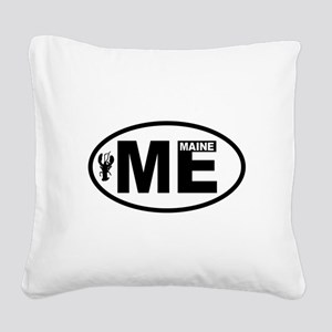 Maine Lobster Square Canvas Pillow