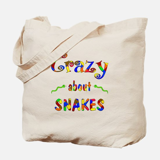 Crazy About Snakes Tote Bag