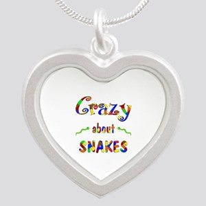 Crazy About Snakes Silver Heart Necklace