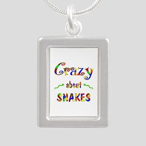 Crazy About Snakes Silver Portrait Necklace