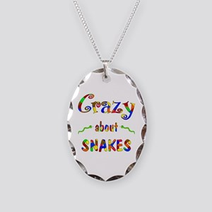 Crazy About Snakes Necklace Oval Charm