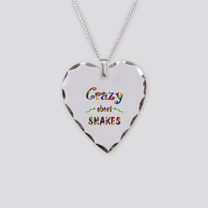 Crazy About Snakes Necklace Heart Charm