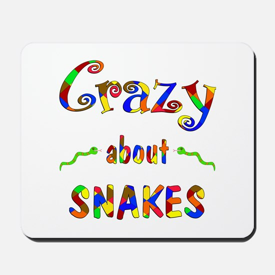 Crazy About Snakes Mousepad