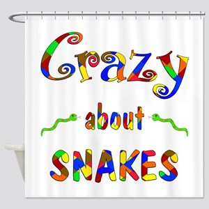 Crazy About Snakes Shower Curtain