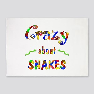 Crazy About Snakes 5'x7'Area Rug