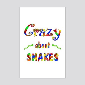 Crazy About Snakes Mini Poster Print