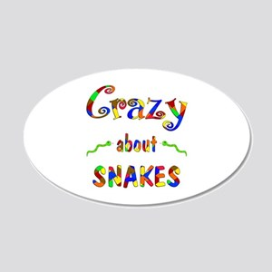 Crazy About Snakes 20x12 Oval Wall Decal