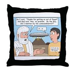 The Fine Print Throw Pillow