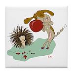 Can't Let Down Porcupine | Tile Coaster
