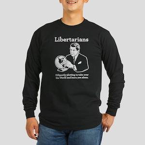 The Libertarian Plot Long Sleeve Dark T-Shirt