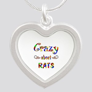 Crazy About Rats Silver Heart Necklace