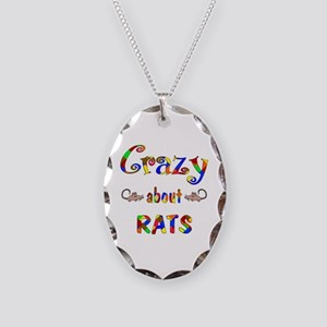 Crazy About Rats Necklace Oval Charm