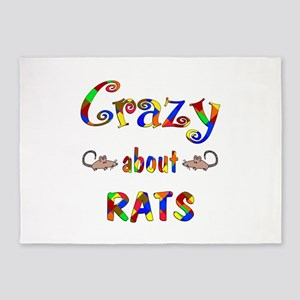 Crazy About Rats 5'x7'Area Rug