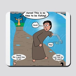 Fishing with Aaron and Moses Mousepad