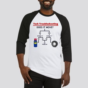 Tech Troubleshooting Flowchart Baseball Jersey