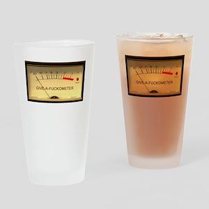 Attitude Meter Drinking Glass