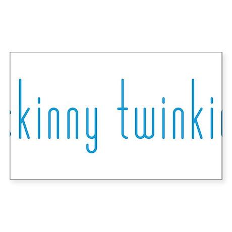 Skinny Twinkie (Blue) Sticker (Rectangle)