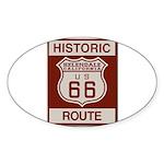 Helendale Route 66 Sticker (Oval 50 pk)