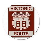 Helendale Route 66 Round Car Magnet