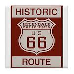 Helendale Route 66 Tile Coaster