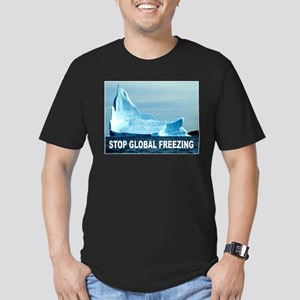 GLOBAL FREEZING Men's Fitted T-Shirt (dark)