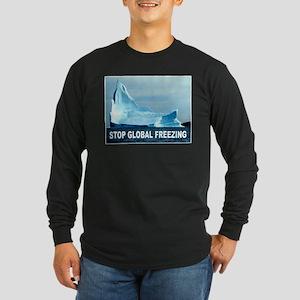 GLOBAL FREEZING Long Sleeve Dark T-Shirt