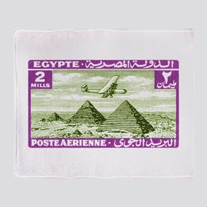 1933 Egypt Airplane Over Pyramids Postage Stamp S