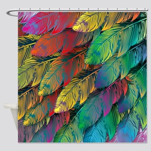 Parrot Feathers Shower Curtain