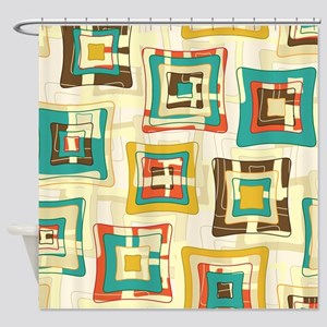Stylish Square Pattern Shower Curtain