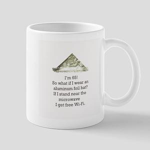 65th Birthday Aluminum Foil Hat Mug