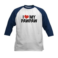 I Love My PawPaw Kids Baseball Jersey