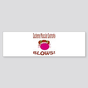 Duchenne Muscular Dystrophy Blows! Sticker (Bumper