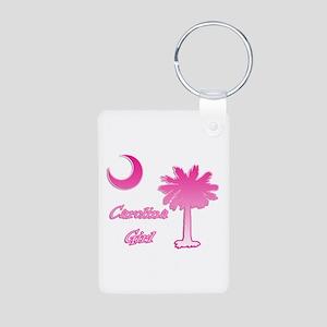 Pink and White Carolina Girl 2 Aluminum Photo Keyc