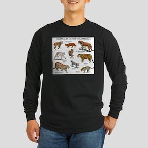 Wildcats of North America Long Sleeve Dark T-Shirt