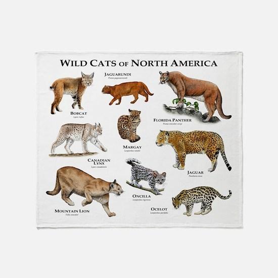 Wildcats of North America Throw Blanket